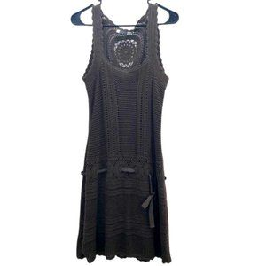 Athleta Olive Falcon Crochet Medallion Tank Dress